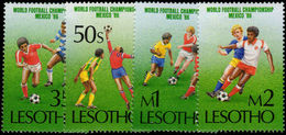 Lesotho 1986 World Cup Football Unmounted Mint. - Lesotho (1966-...)