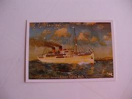 Postcard Postal Algeria Compagnie Générale Transatlantique Paquebot Le Cartage - Algérie