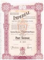 Ancien Titre - Brasseries Imperial - Société Anonyme - Titre De1950 - Industrie