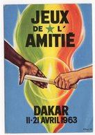 1963  SENEGAL, DAKAR TO BELGRADE , YUGOSLAVIA, FRIENDSHIP GAMES - Senegal
