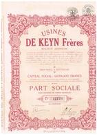 Ancien Titre - Usines De Keyn Frères - Société Anonyme - Titre De 1941 - Industrie