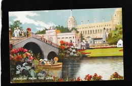 "London,UK-""Stadium From The Lake"" British Empire Exhibition 1924 - Antique Postcard - Regno Unito"