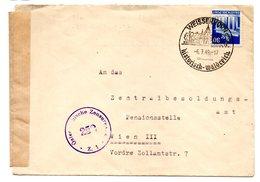 """Deutschland/Alliert. Besetzg., 1949, Briefkuv.mit 30Pfg., SStp. Weissenhorn Sowie Zensurstpl """"258"""" Und -streifen (15378) - Soviet Zone"""