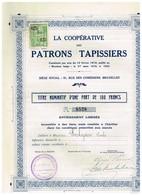 Ancien Titre - La Coopérative Des Patrons Tapissiers - Titre De 1929 - Rare - Industrie