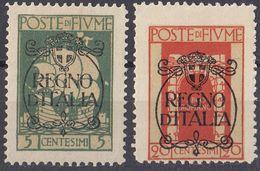 FIUME - 1924 - Lotto Di 2 Valori Nuovi MH: Yvert 194 E 197, Come Da Immagine. - 8. Ocupación 1ra Guerra