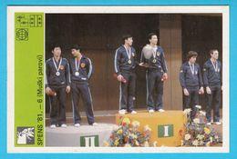 WORLD TABLE TENNIS CHAMPIONSHIP 1981 MEN'S DOUBLES - Yugoslavia Card Svijet Sporta * Tennis De Table Tischtennis China - Table Tennis
