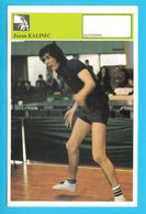 ZORAN KALINIC Table Tennis AUTOGRAM CARD Svijet Sporta Yugoslavia Tennis De Table Tischtennis Tenis De Mesa Ping-pong - Table Tennis