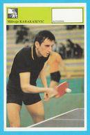 MILIVOJE KARAKASEVIC Table Tennis AUTOGRAM CARD Svijet Sporta Yugoslavia Tennis De Table Tischtennis Tenis De Mesa - Tischtennis