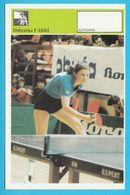 DUBRAVKA FABRI - Table Tennis AUTOGRAM CARD Svijet Sporta Yugoslavia Tennis De Table Tischtennis Tenis De Mesa Ping-pong - Table Tennis