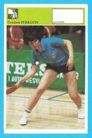 GORDANA PERKUCIN Table Tennis AUTOGRAM CARD Svijet Sporta Yugoslavia Tennis De Table Tischtennis Tenis De Mesa Ping-pong - Table Tennis