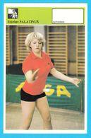 ERZEBET PALATINUS - Table Tennis AUTOGRAM CARD Svijet Sporta Yugoslavia Tennis De Table Tischtennis Tenis De Mesa - Table Tennis