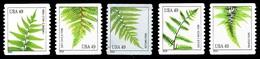 Etats-Unis / United States (Scott No.4848-52 - Fougères / Ferns) (o) COIL - United States