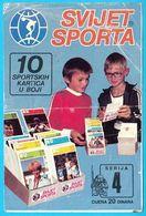 SVIJET SPORTA - Serie 4 ... Original Vintage Advertising Card * Yugoslavia Jugoslavia Jugoslavija Jugoslawien - Deportes