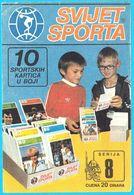 SVIJET SPORTA - Serie 8 ... Original Vintage Advertising Card * Yugoslavia Jugoslavia Jugoslavija Jugoslawien - Deportes