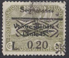FIUME - 1921 - Yvert Segnatasse 20 Usato, Come Da Immagine. - 8. WW I Occupation