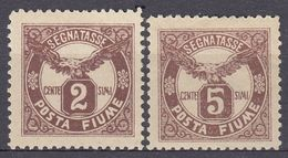 FIUME - 1919 - Lotto Di Due Valori Nuovi MH: Yvert Segnatasse 13 E 14, Come Da Immagine. - 8. WW I Occupation
