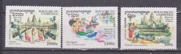 CAMBODIA 1999 , MI 2233-2246, CULTURE KHEMIERE, ARCHAEOLOGY,, SET 3v. MNH - Camboya