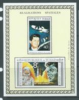 Chad 1971 Kennedy & Apollo Space Deluxe Sheet Imperforate MNH - Chad (1960-...)