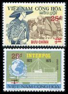 Vietnam Du Sud 1975  YT 515-516 ; Mi# 577-578  ** MNH  Surchargees - Vietnam