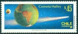 CHILE 1985 HALLEY'S COMET** (MNH) - Chili