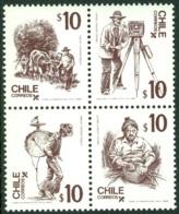 CHILE 1985 FOLKLORE BLOCK OF 4** (MNH) - Chile
