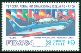 CHILE 1984 AVIATION FAIR, AIRCRAFT** (MNH) - Chili