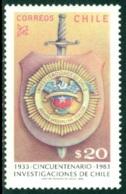 CHILE 1983 BUREAU OF INVESTIGATION** (MNH) - Chili