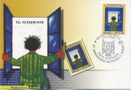 ITALIA - FDC MAXIMUM CARD 2006 - QUOTIDIANO IL GIORNO - ANNULLO SPECIALE - Cartoline Maximum