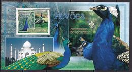 Guinea-Bissau, Birds, Peacocks, Scouting MNH / 2007 - Paons