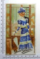 CHROMO  AJOURE EN 2 VOLETS....1901...GANT PERRIN.....FEMMES ÉLÉGANTES...OMBRELLE - Trade Cards