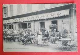 81 Castres 1915 Café Carayol Place Soult TB Animée Sans éditeur Dos Scanné Net Sur Original - Castres