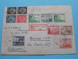 Deutsches Reich ( Einschreiben Stamp 1938 Dillingen ) > ROMA (125) Italy > ( See / Zie / Voir 2 Photos )! - Germania