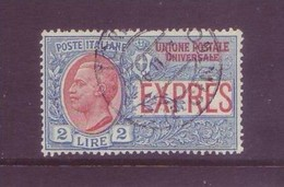 Italia 1925 - Espresso, 2 Lire Azzurro E Rosso Usato - Cat 220 Euro - 1900-44 Vittorio Emanuele III
