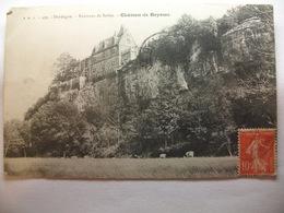 Carte Postale Le Chateau De Beyssac (24) Environ De Sarlat ( Petit Format Oblitérée Timbre 10 Centimes ) - Sarlat La Caneda