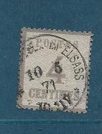 Timbres Dits D'alsace Lorraine N°3  Oblitéré (cote 135€) - Alsace-Lorraine