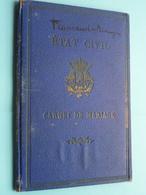 Carnet De MARIAGE Braine L'Alleud : Flamand Jean 1874 / Denayer Laure 1880 > Mariage 12 Oct 1901 ( Details Zie Foto ) ! - Vecchi Documenti