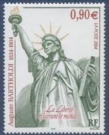 N° 3639 Centenaire De La Mort De Bartholdi Faciale 0,90 € - France