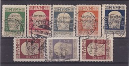 # Z.9890 Italy, Fiume 1921 Ovpr. Incomplete Set Used, Michel 114 -119, 121, 123: Definitive Issue, Gabriele D' Annunzio - Fiume