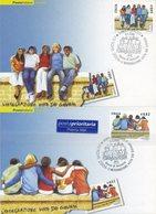 ITALIA - FDC MAXIMUM CARD 2006 - EUROPA - I DUE VALORI - ANNULLO SPECIALE - Cartoline Maximum