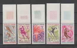 FRANCE / 1968 / Y&T N° 1543/1547 ** : JO Grenoble (série Complète 5 TP) Tous BdF Haut - Gomme D'origine Intacte - Nuovi