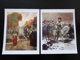 2 Affiches :  Lanciers En Promenade Au Parc, Charge De Carabiniers 1er Empire & - Livres, Revues & Catalogues