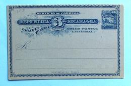 Nicaragua STATIONERY Post Card 3 CENTAVOS Mint - Nicaragua