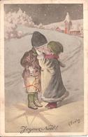 CPA ILLUSTRATEUR K. FEIERTAG - JOYEUX NOËL - Enfants S'embrassant Dans La Neige - Illustrateurs & Photographes