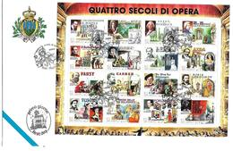 SM095 - FDC SAN MARINO 12.2.99 - QUATTRO SECOLI DI OPERA - FDC