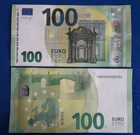 FRANCE 100 Euro 2019  UNC Draghi Letter EA Print Code E002 B1 - EURO