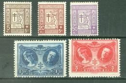 België 1926; Tuberculose Bestrijding, OCB 240-244.* (MLH, Plakker) - België