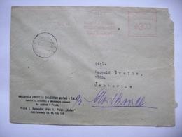 Cover 1948 (Velky Tynec) Meter Stamp Freistempel PRAHA Nakupni A Prodejni Druzstvo Mlynu V C.S.R. (Cooperative Mills) - Tschechoslowakei/CSSR