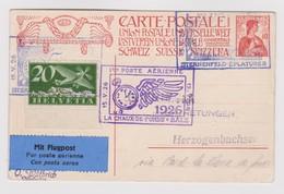 SUISSE POSTE AERIENNE 1925:  Entier De  La Chaux-de-Fonds à Bâle, Oblitérations Spéciales Du 15.V.26,  TTB - Posta Aerea
