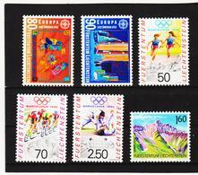 TNT340 LIECHTENSTEIN 1992 Michl 1033/38 ** Postfrisch SIEHE ABBILDUNG - Liechtenstein