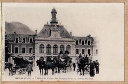X39140 Edition Libraire Ch. PAGET MOREZ Jura Hotel De Ville Et Les Diligences De La Maison BOUVET 1890s PARFAIT-MINT - Morez